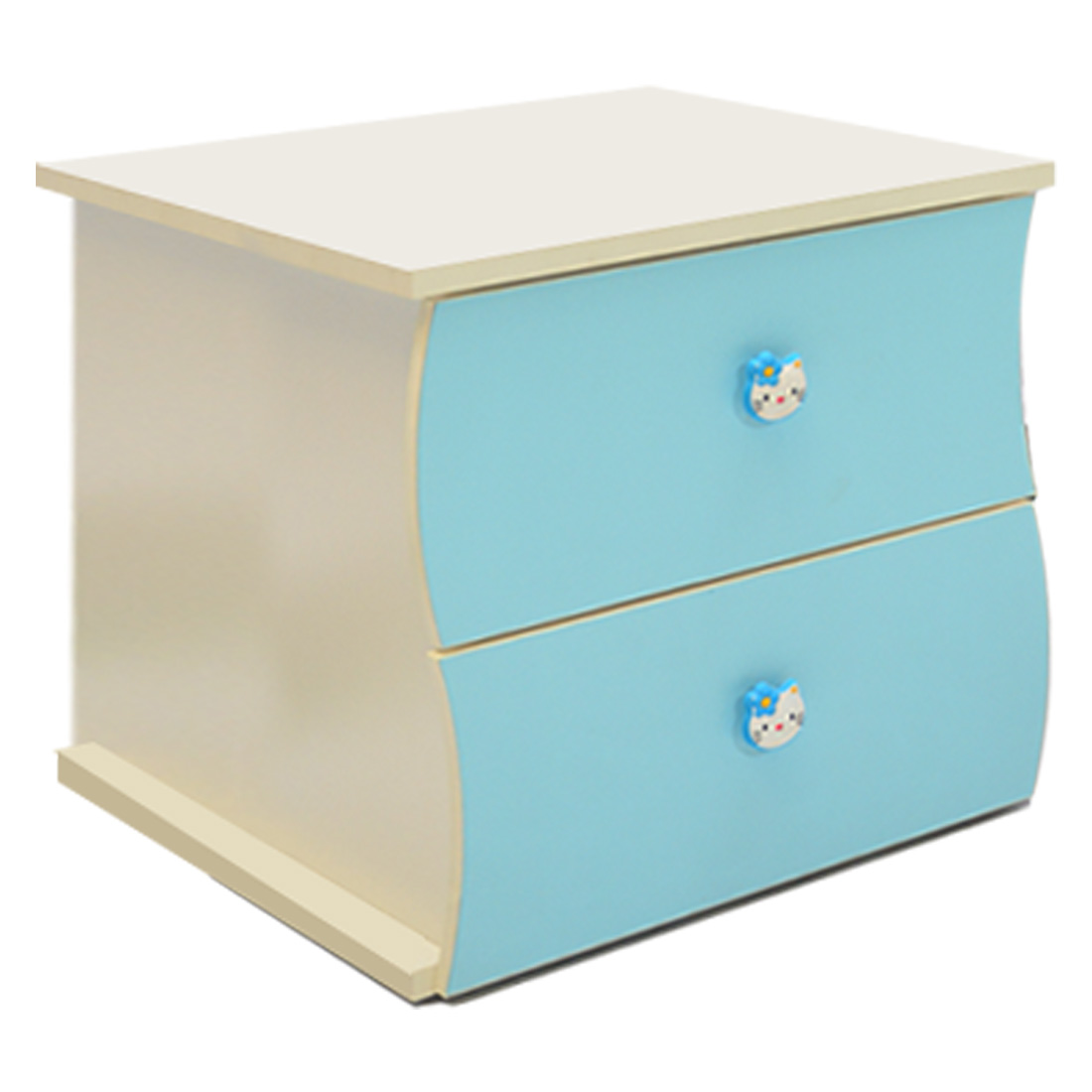 Children Bedside Cupboard Blue And White