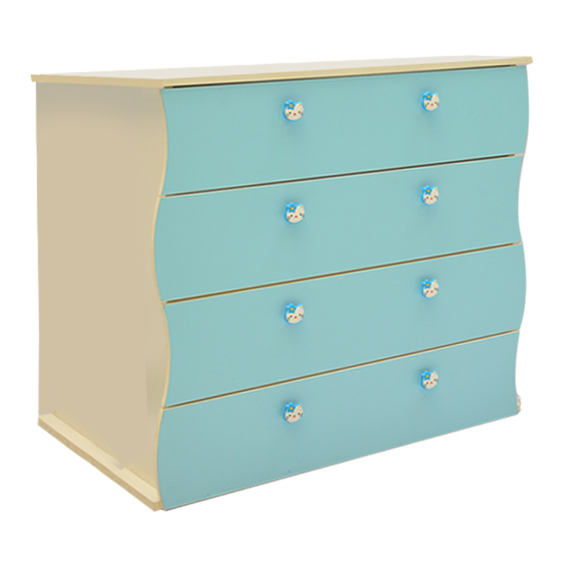 Children Chest Of Drawers Blue And White