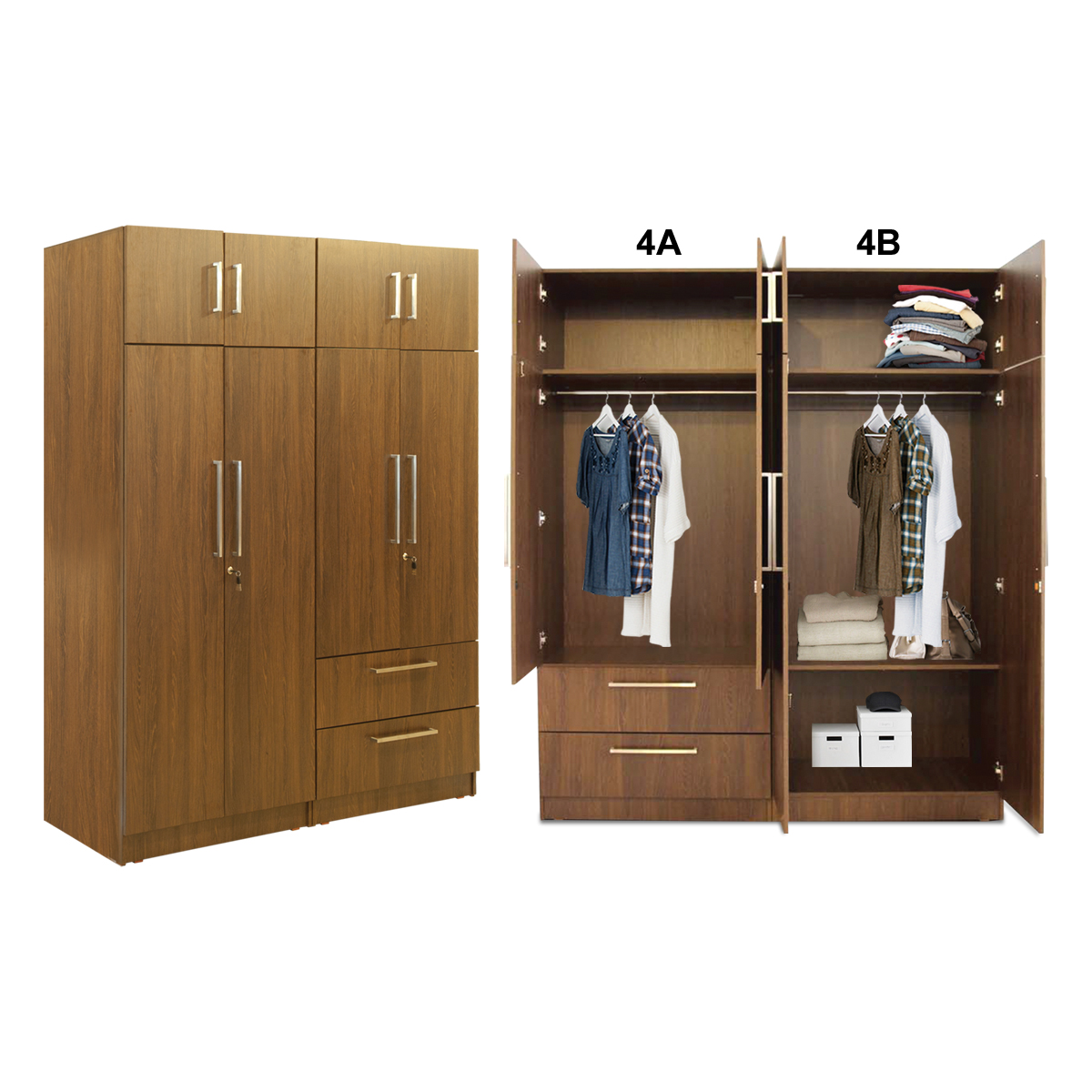Oregon Wardrobe - WD4A - With Inner Drawer