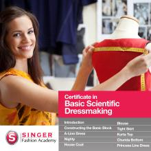 Singer Fashion Academy Certificate In Basic Scientific Dressmaking