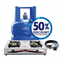5kg Cylinder + Accessory Pack + Gas Cooker (STT-200K)