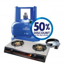 5kg Cylinder + Accessory Pack + Gas Cooker (STT-300S)