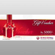 Singer Gift Voucher - Rs 5,000
