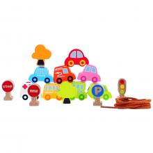 Wooden Traffic Beads Educational Toy