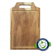 Smart Chef Vegetable Wooden Cutting Board With Juice Dripping Grove WCB07, 10 x 16