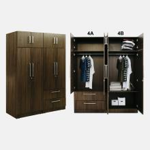 Oregon Wardrobe - WD4A - With Inner Drawer - Classic Teak