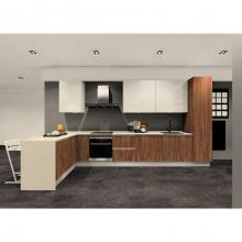 Singer Signature Kitchen Pantry - L Shape Kitchen, Corian - Solid Surface