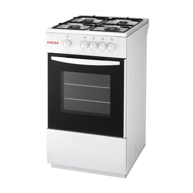 Singer Freestanding Gas Oven With 4 Gas Burners 47L