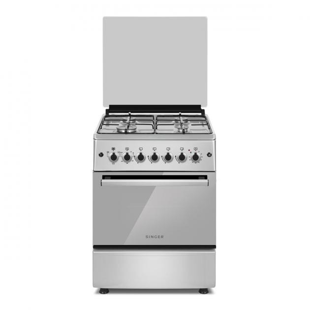 Singer Freestanding Oven With 4 Gas Burners 62L
