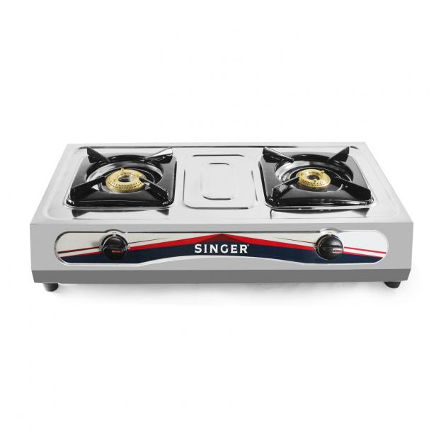 Singer Double Burner Gas Cooker Table Top