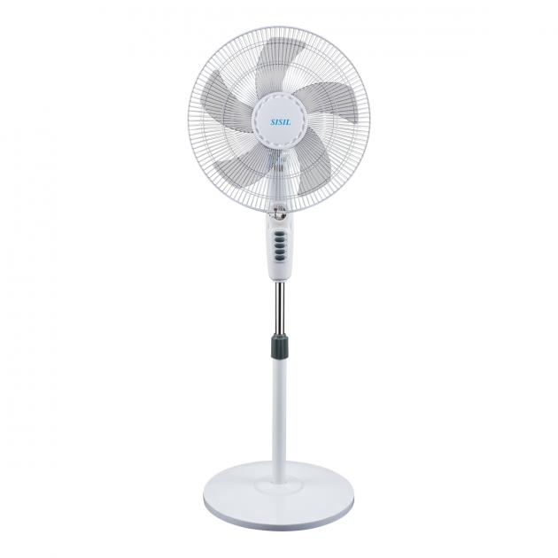 Sisil Pedestal Fan With Remorte, 4 Speeds, 55W