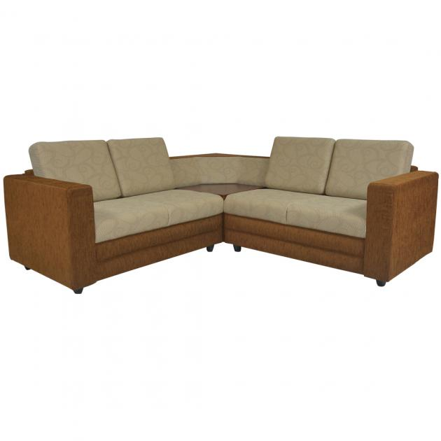 Legend Sectional Sofa - Dark Brown Base And Light Brown Cushion