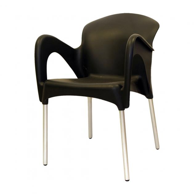 Mondy Hybrid Plastic Chair - Black