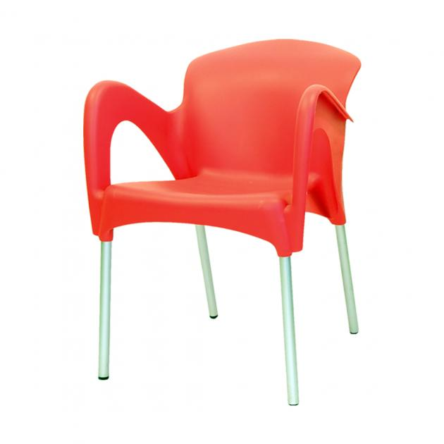 Mondy Hybrid Plastic Chair - Red