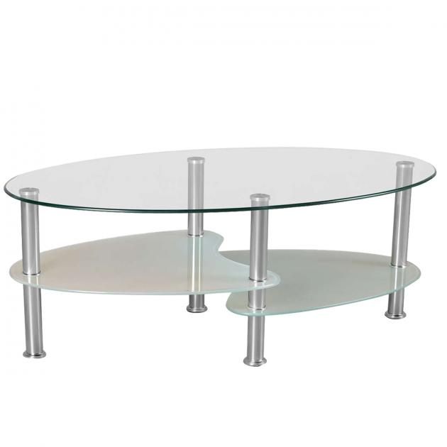 Namal Oval Shaped Glass Top Center Table