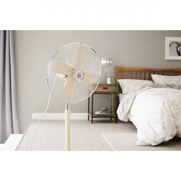 Swan Retro 16 Inch Stand Fan (Cream)