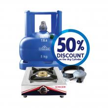 5kg Cylinder + Accessory Pack + Gas Cooker (STT-100K)
